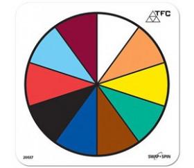 Fiche ronde effaçable 10 couleurs