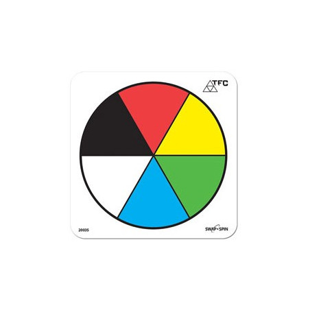 Fiche ronde effaçable 6 couleurs