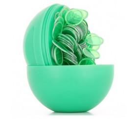 Boule loto verte rangement avec pions magnétiques