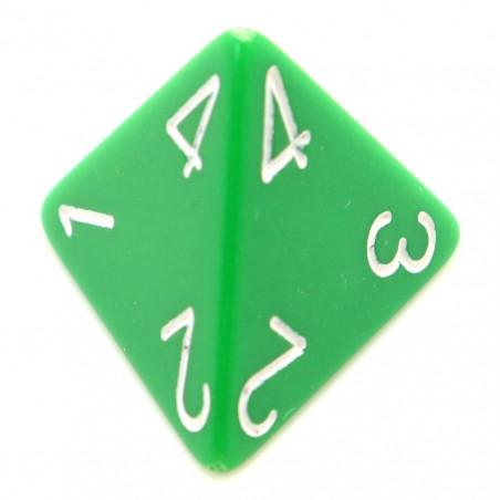 Dé 4 faces 1 à 4 opaques jeux de rôle d4 vert