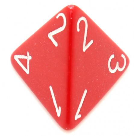 Dé 4 faces 1 à 4 opaques jeux de rôle d4 rouge