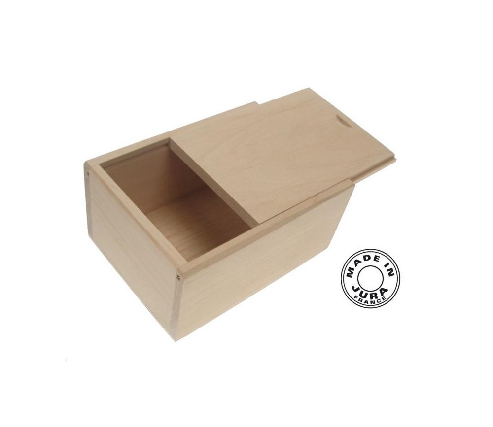 coffret bois glissi re pour jeu cartes standard couvercle. Black Bedroom Furniture Sets. Home Design Ideas