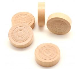 40 Pions bois pour jeu de dames 30 mm en coffret