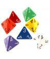 Dé 4 faces 1 à 4 opaques jeux de rôle d4
