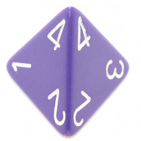 Dé 4 faces 1 à 4 opaques jeux de rôle d4 violet