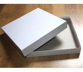 Boite carré avec calage intérieur carton blanc