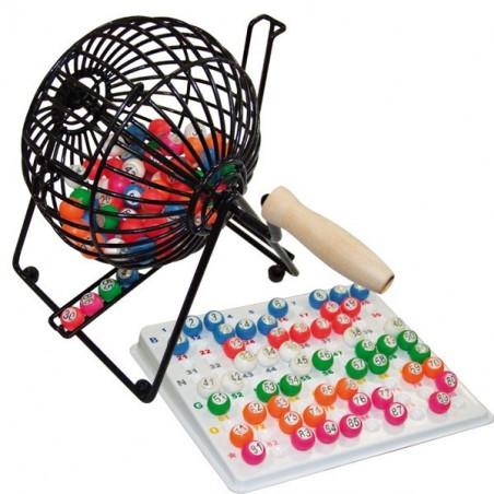 Boulier métal loto avec boules et plateau de tirage