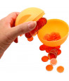 Boule loto orange rangement avec pions magnétiques