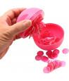 Boule loto rose rangement avec pions magnétiques