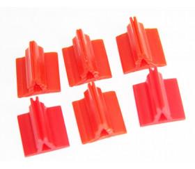 Support pion rouge avec pince pour jeux