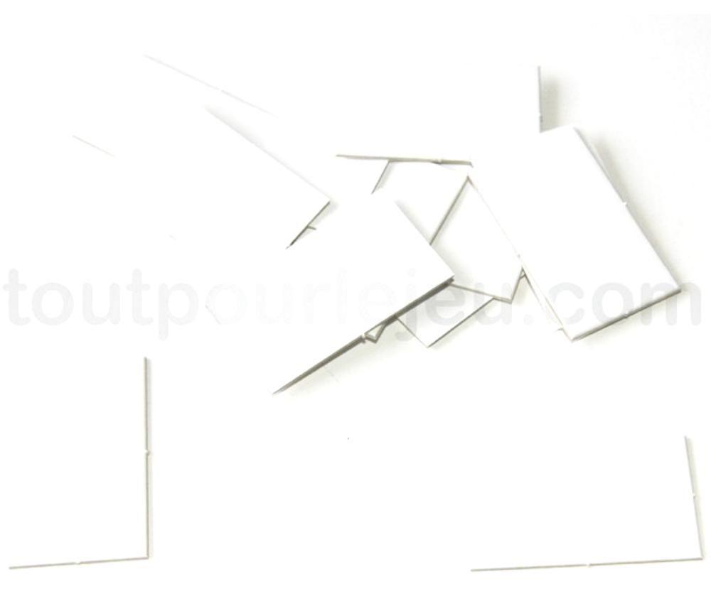 16 Tuiles jetons épais rectangles blancs 15x21 mm vierge à personnaliser