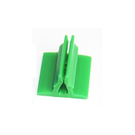 Support pion vert avec pince 17x19x10 mm