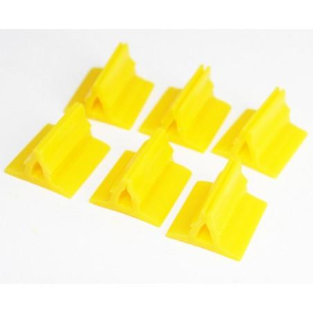 Support pion jaune avec pince 17x19x10 mm