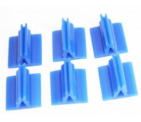 Support pion bleu avec pince 17x19x10 mm