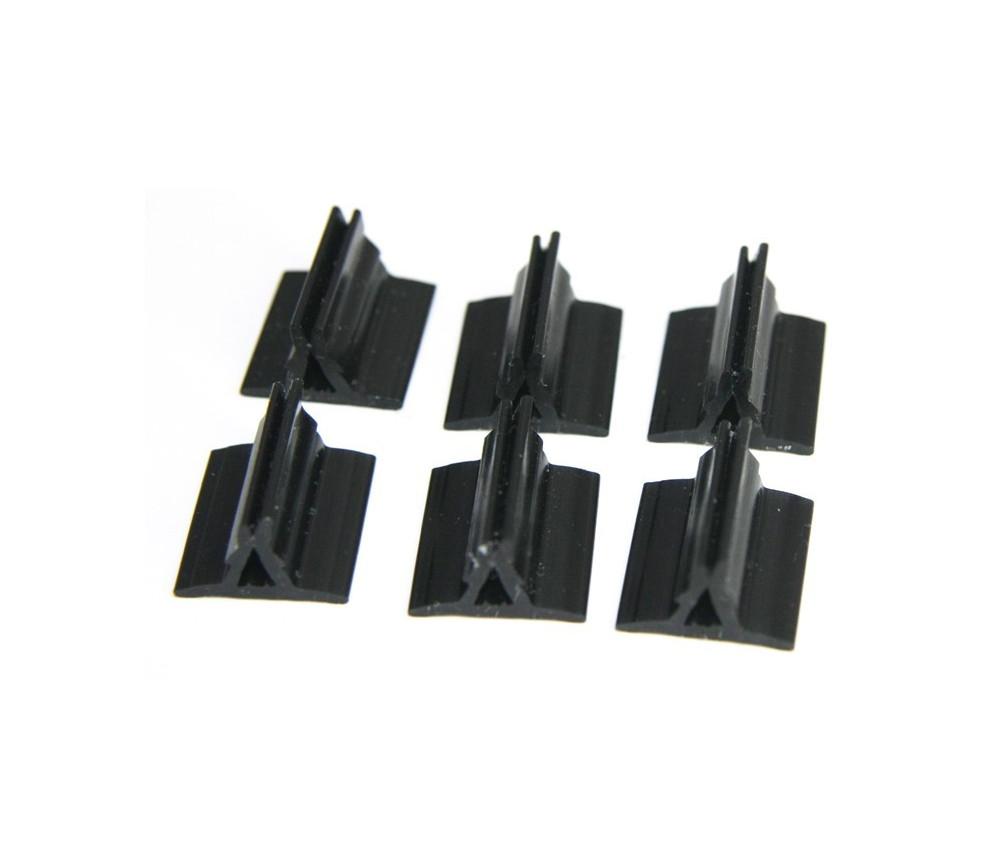 Support pion noir avec pince 17x19x10 mm