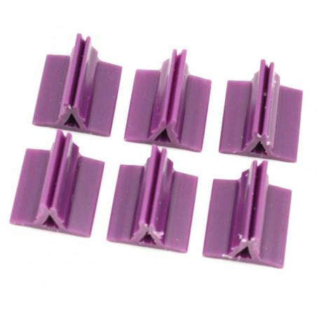 Support pion violet avec pince 17x19x10 mm pour jeu