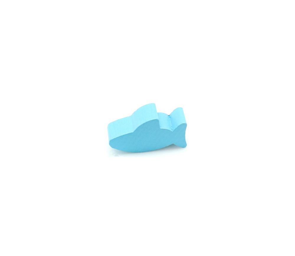 Pion requin bleu en bois 30 x 15 x 10 mm pour jeu