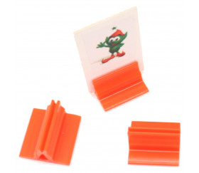 Support pion orange avec pince 17x19x10 mm pour jeu