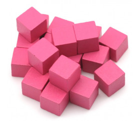 Cubes en bois 0.8 cm. 8x8x8 mm lot 20