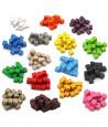 Cubes en bois 1 cm. 10 x 10 x 10 mm couleurs
