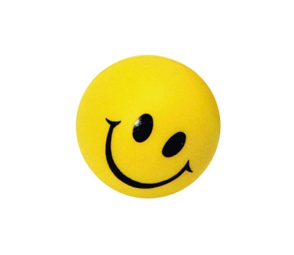 Balle jaune antistress 5 cm sourire