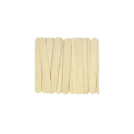 50 grands bâtonnets bois naturel 15 x 2 x 0.18 cm bricolage et jeux