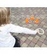 Anneau en bois 11.5 cm pour jeux de lancer et d'adresse