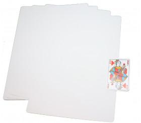 25 cartes A4 blanches XXL 210 x 297 mm coins arrondis