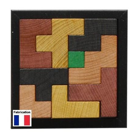 Jeu puzzle cube en bois - jeu casse tête évolutif