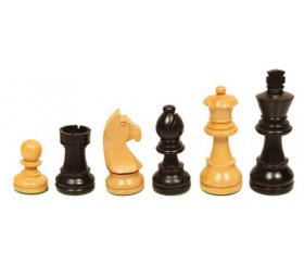 Pièces échecs 5 bois plombées lestées taille 5 luxe
