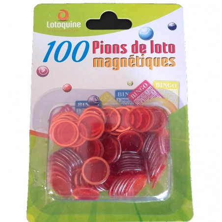 Pions magnétiques ronds pour loto super qualité lot de 100