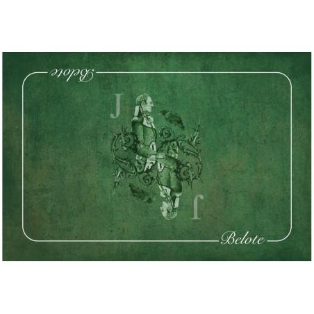 tapis de carte belote Tapis de cartes à jouer Valet vert Belote 40 x 60 cm néoprène pour