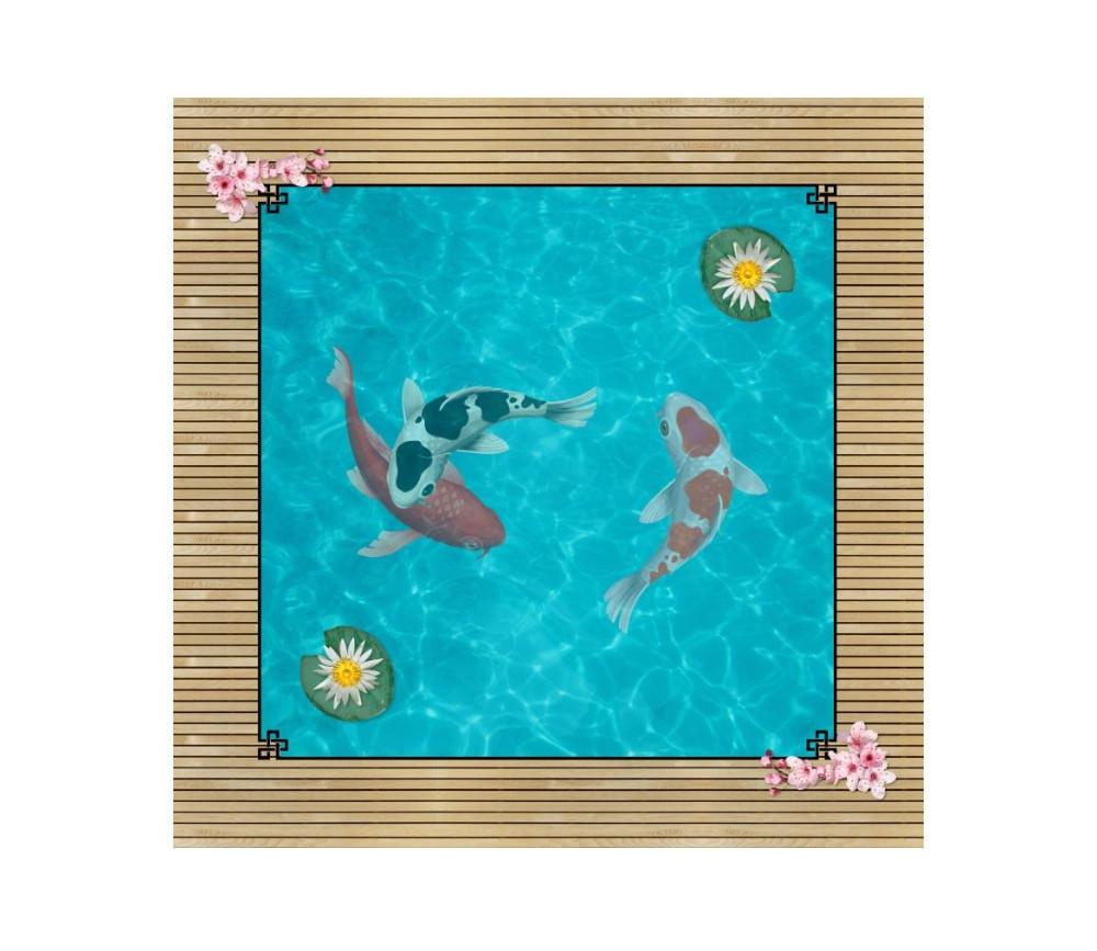 Tapis Mulitjeux 40x40 cm bassin japonais