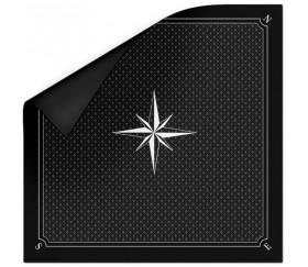 Tapis jeu 60 x 60 cm Tarot noir rose des vents
