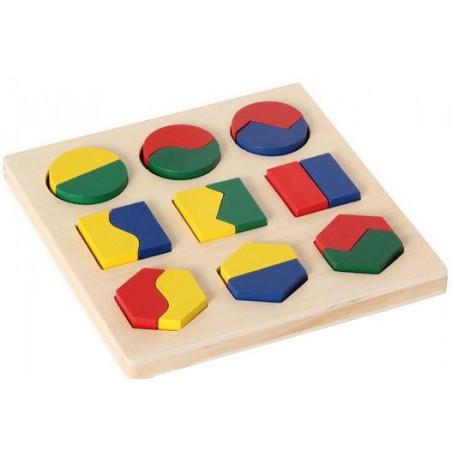 Puzzle formes géométriques à assembler