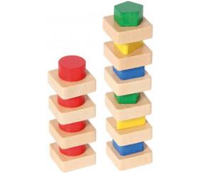 Plateau classement formes et couleurs bois