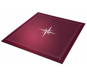 Tapis jeu 60 x 60 cm Tarot bordeaux rose des vents