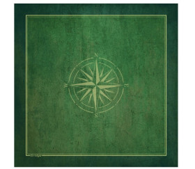 Tapis Bridge 78 x 78 cm Rose de Vents vert