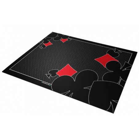 Tapis de cartes 40 x 60 cm ornament noir