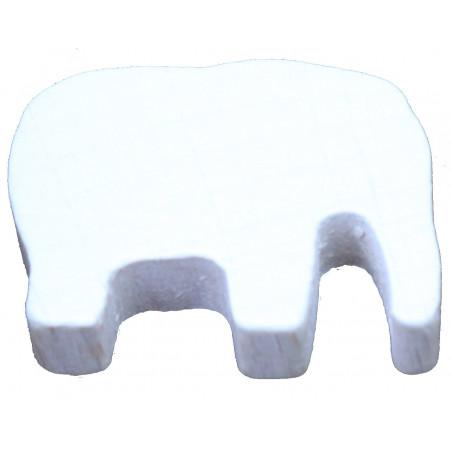 Pion éléphant blanc en bois 37 x 28 x 10 mm