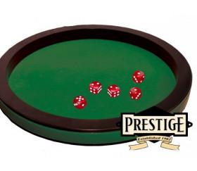 Grande Piste de dés luxe verte et noire 43 cm pour jeu
