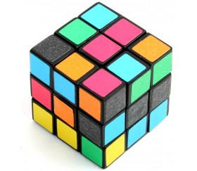Mini cube 3 cm jeu de patience 6 faces couleurs
