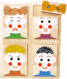 Puzzle Visages émotions 34 x 27 cm