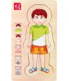 Puzzles anatomie garçon - 4 puzzles à étage