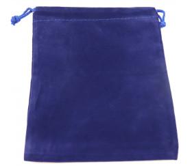 Sac suedine 125 x 175 mm modèle 2 bleu