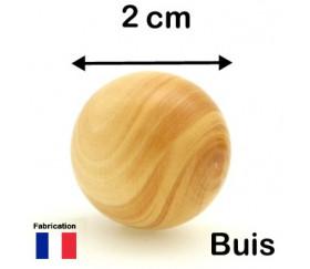 Boule en bois 20 mm bille buis naturel