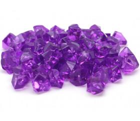 GEM violet  : 50 mini gemmes translucides pions imitation pierres précieuses pépites