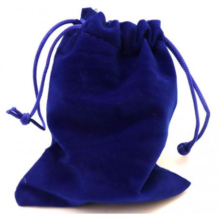 Petit Sac velours 120 x 90 mm bleu nuit avec cordon