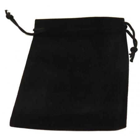 Petit Sac velours 120 x 95 mm noir pour pions de jeux