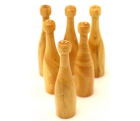 Mini bouteille en bois - pion 12 x 45 mm